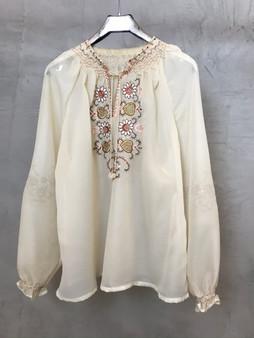 Blusa Vintage Bordada Tradicional da Ucrânia Anos 70
