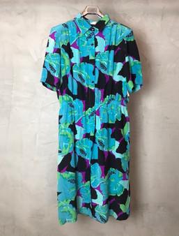 Vestido de Seda dos Anos 90 com Cores Vibrantes