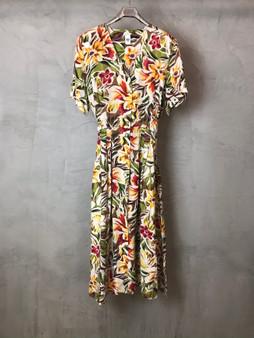 Vestido em Seda com Flores dos Anos 90
