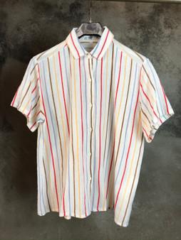 Camisa de Riscas em Algodão Anos 80