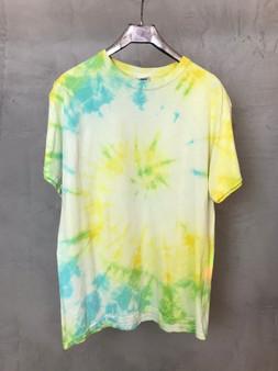 T-Shirt Tie & Dye Amarela verde Azul