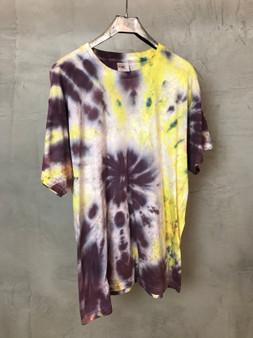 T-Shirt Tie & Dye Roxa Branca e Amarela