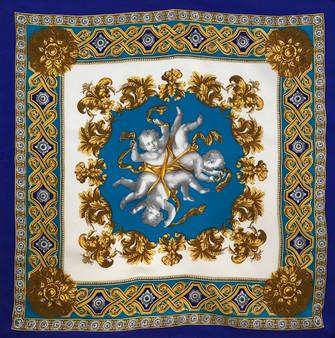 Lenço Barroco com 3 Anjos / Baroque Scarf with 3 Angels