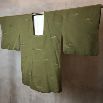 Kimono Vintage Japonês com Print Ondulado