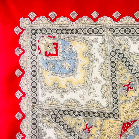 Vintage silk scarf 035