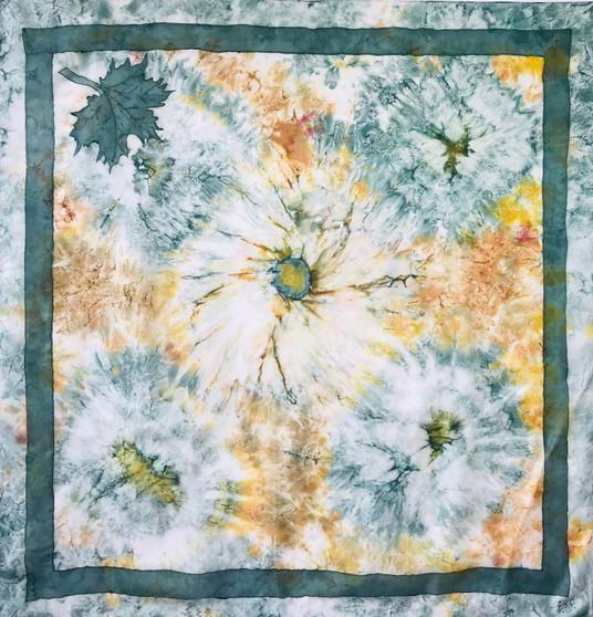 Vintage silk scarf S040