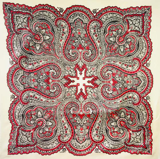 Vintage silk scarf S042