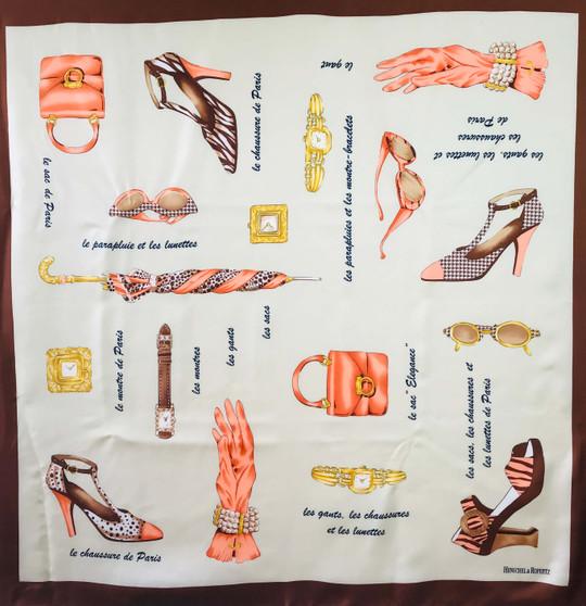 Vintage silk Codello scarf S046
