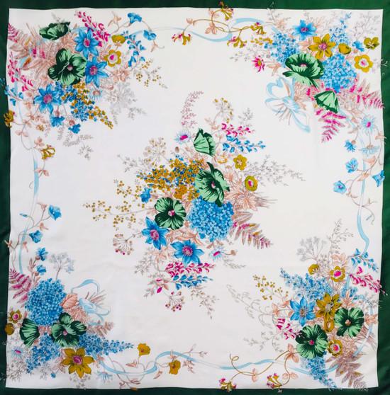 Vintage silk scarf S049