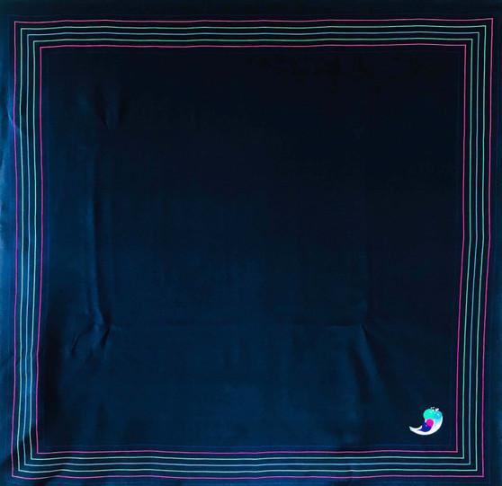 Vintage silk scarf S053