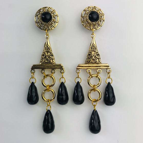Black Boho Earrings