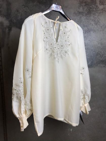 Blusa Boho Bordada Branca