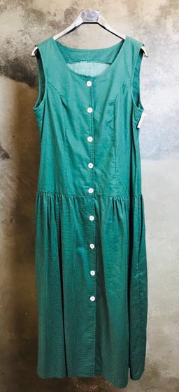Vestido Verde com Pintas Brancas