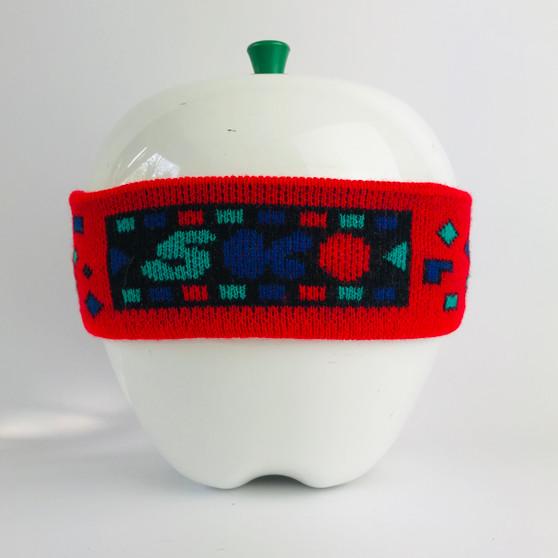 80s Headband Red Blue Green