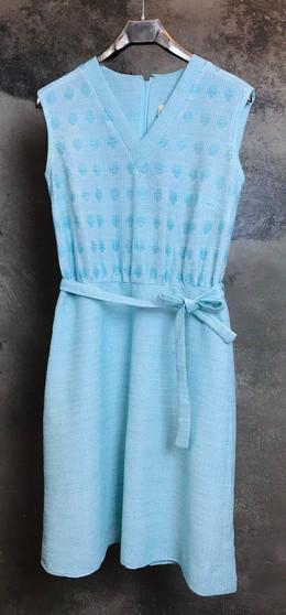 Vestido Azul em Malha Anos 60