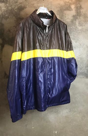 90s Jacket em Castanho, Amarelo e Azul