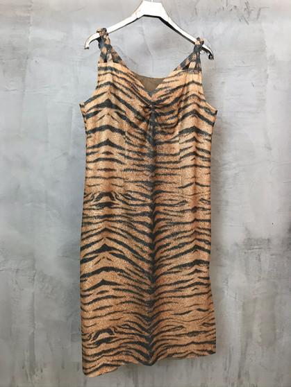Vestido Tigresse Anos 60 em Lurex