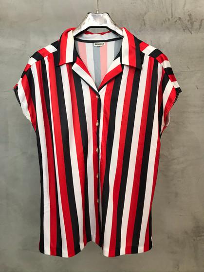 Camisa de Riscas dos Anos 80
