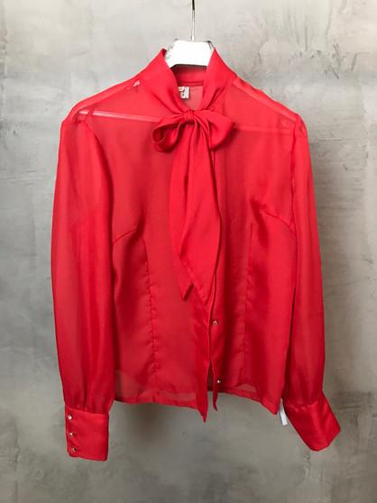 Camisa Vermelha Semi-Transparente Anos 60