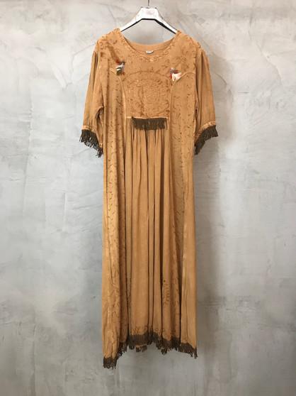 Vestido Hippy com Franjas Anos 90