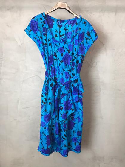 Vestido Azul de Lycra dos Anos 80