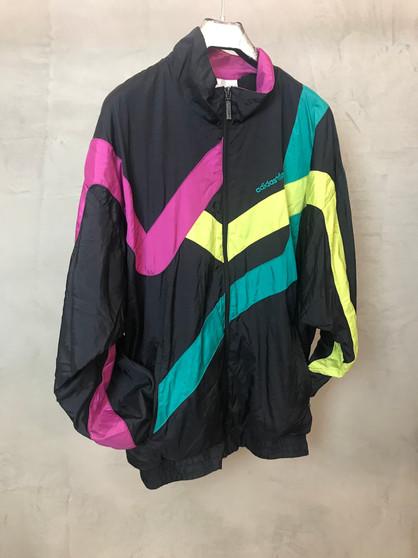Adidas Jacket em Preto Rosa Amarelo e Verde