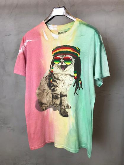 T-Shirt Tie & Dye Cat