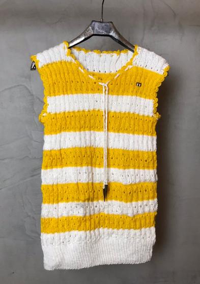 Colete Vintage Amarelo dos Anos 70 feito à Mão