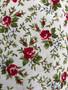 Camisa Branca com Flores Anos 80