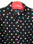 Camisa Preta com Bolinhas Coloridas Anos 80