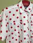 Camisa Branca com Bolinhas Vermelhas  Anos 80