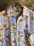 Camisa de Seda com Cartas e Dados