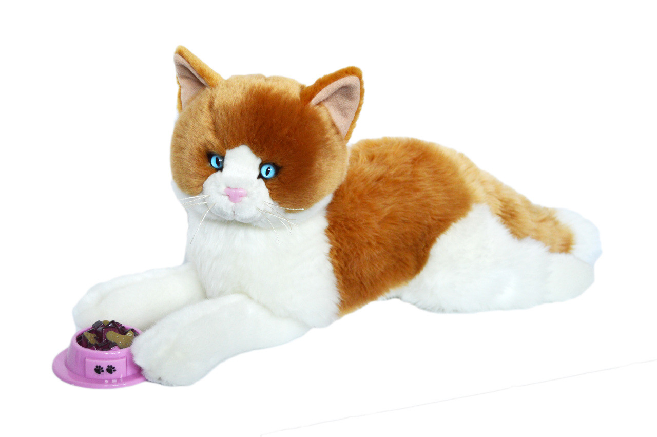 Peaches Plush Orange Tabby Cat