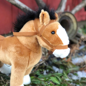 17 Inch Copper Penny Golden Brown Horse ©