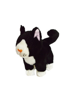 8 Inch Mini  Tuxedo Cat Azrael