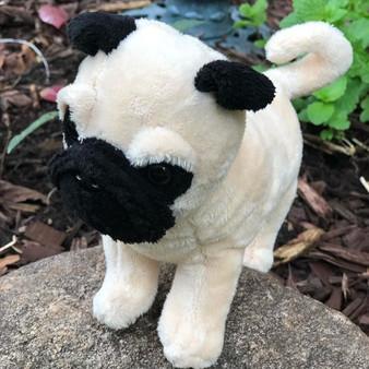 Mini 8 Inch Pug Dog Pugslee - Plush Stuffed Animal Puppy