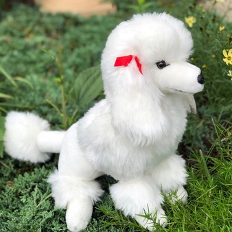 Auswella Plush Standard White Poodle Paris