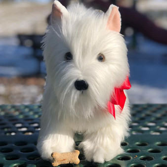 Auswella Plush Puppy  Winnie the West Highland Terrier Dog- Coming Soon