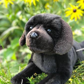 Plush Black Labrador, labradors, labs, plush dogs