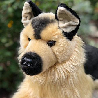 Auswella Tan German Shepherd Plush Animals