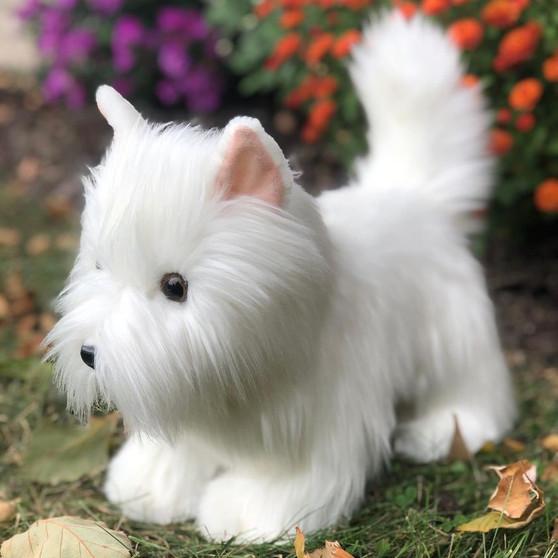 Auswella Plush Puppy  Winnie the West Highland Terrier Dog
