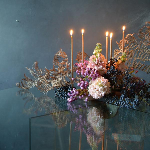 fos-candle-bundle-with-kenzan-arrangement