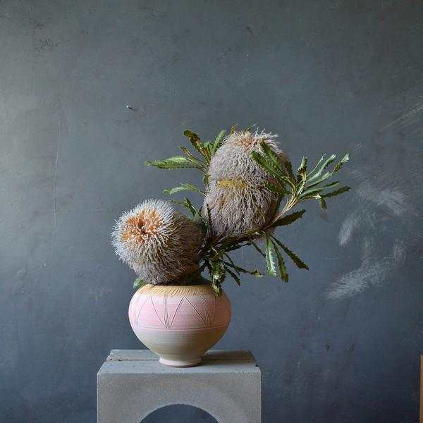 2x-possum-banksia-in-vintage-vase