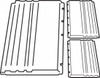 Xtra™ Carts, Back (1) and Side (2) Panel Kit
