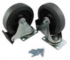 """Rubbermaid 5"""" Diameter Caster Kit for 9W71 and 9W73 carts"""