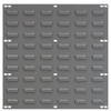 Wall Panel, Louvered Wall Panel, 18 x 19, Gray  30618