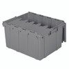 Container, Attached Lid Container 17.20 gal, Gray  39175
