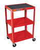 Luxor Av Cart RED AVJ42-RD
