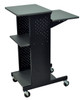Luxor Presentation Cart DARK GRAY SURFACE/ BLACK FRAME PS4000