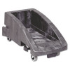 Rubbermaid Commercial Slim Jim Trolley, 200 lbs, Black, 2/Carton